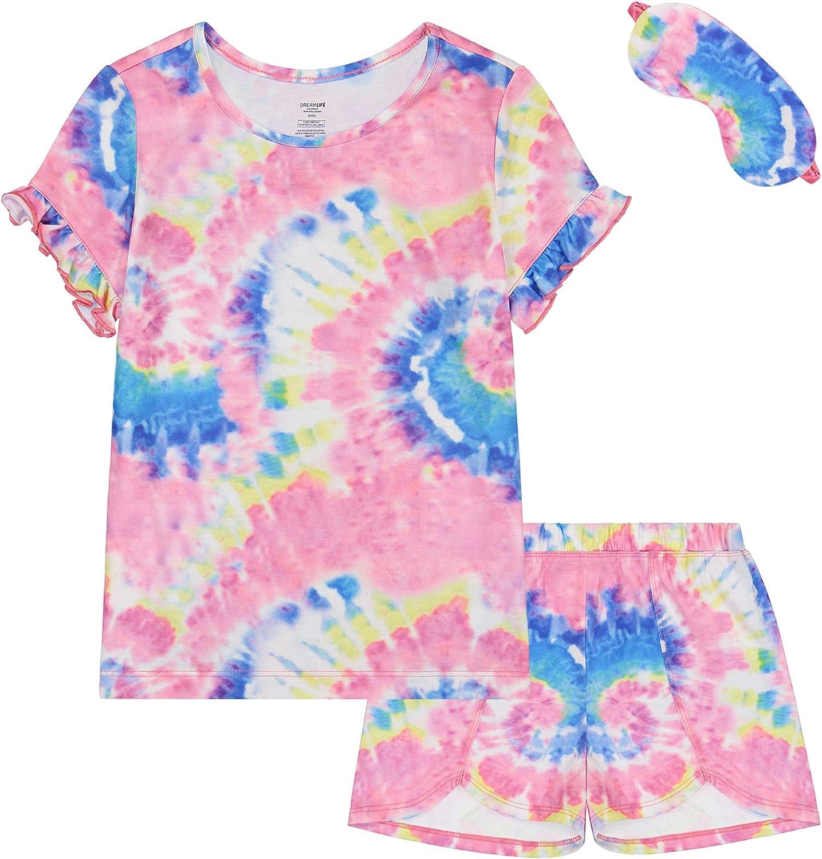 Baby Girl Pajamas 3 Piece Set PJs Set Sleepwear Pajama Set for Girls & Eye Mask