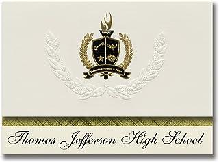 Signature Announcements Thomas Jefferson High School (Rochester, NY) Graduation Announcements, Presidential style, Elite p...