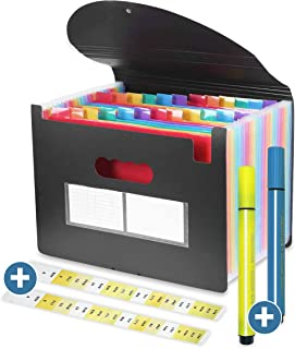Plastic A4 Accordion Large Capacity File Folder Storage Organiser (24 Pockets)