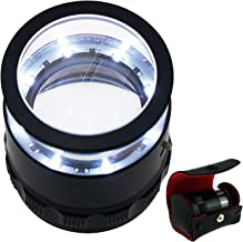 10x with 25mm with LED, Focused Eye Loupe Jewelry Magnifiers for Gems, Hobbies Antiques Models,Interchangeable Reticle Scale