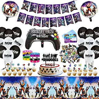 Birthday Party Supplies, Include Banner, Cake Topper, Latex Balloons, Foil Balloons, Tablecloth, Invitation Cards, Silicon...