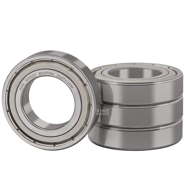 XiKe Sale 4 Pcs 6005ZZ Double Metal Bearings Pre-Lub Seal 25x47x12mm Max 80% OFF