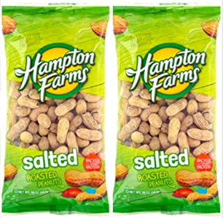 Salted Roasted Peanuts, 10-oz. Bags - 2 Packs; Hearty and healthy peanuts a good source of Protein