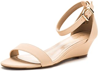 56ff46a91cd5 DREAM PAIRS Women s Ingrid Ankle Strap Low Wedge Sandal