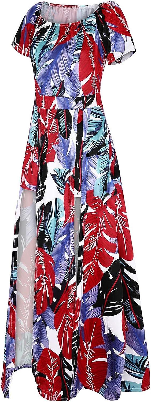A2A Bodycon Romper for Women Split Maxi Dress High Elasticity Floral Print Short Jumpsuit Party Beach Overlay Skirt