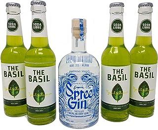 BIO Spree Gin - Berlin Dry Gin 0,5 mit Soda Libre Basil 4x 0,33