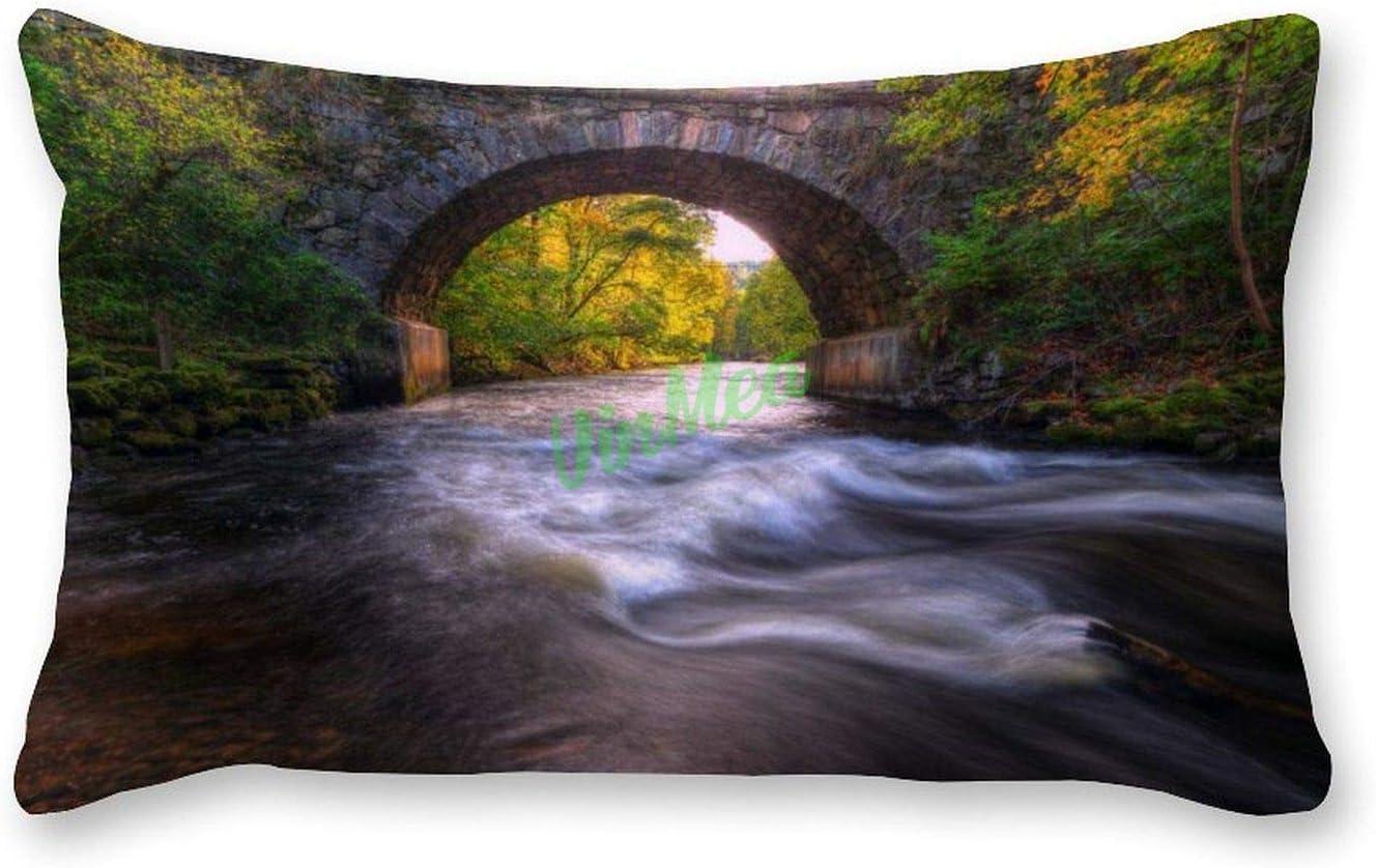 VinMea Decorative Lumbar Pillow Covers Albuquerque Mall Stone Near Bridge Outdoor Max 70% OFF