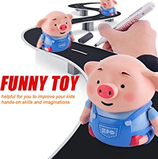 ★ Futurelove ★ Children Toy Gift, Christmas Toy Follow Any Drawn Line Magic Pen Inductive Cute Pig Model, Robot Toy, Pig Robot Remote Radio Vehicle, Fun Learning at Home Christmas Birthday Gift (A)
