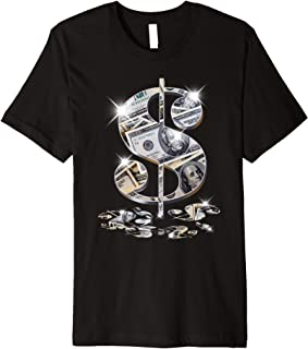 Cool As Dollar Bill Dollar Sign $$ Gift Design Idea Premium T-Shirt