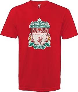Liverpool Football Club Official Soccer Gift Kids Crest T-Shirt