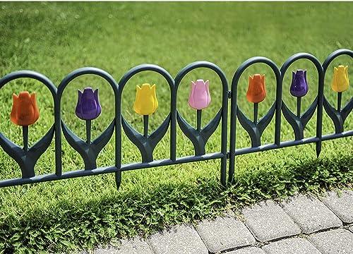 high quality BORDER outlet online sale FENCES new arrival Decorative 4 Piece Tulip Set outlet sale