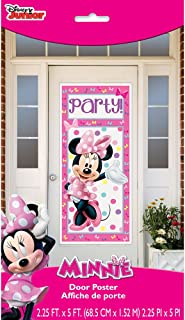 Plastic Minnie Mouse Door Poster