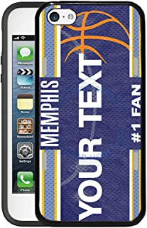 BRGiftShop Customize Your Own Basketball Team Memphis Rubber Phone Case for Apple iPhone 5c