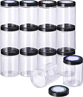 SGHUO 14 Pack 8Oz Empty Slime Containers with Water-Tight Lids, Plastic Slime Jars with Stickers for Slime Making