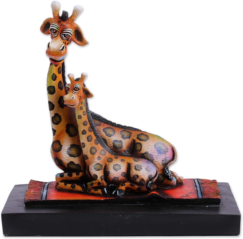 NOVICA Brown Ceramic Animal Themed Sculpture, 8.25