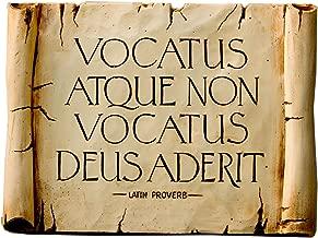 Piazza Pisano Latin Plaque with The Words Bidden Or Not Bidden God is Present