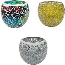 MagiDeal 2/3/5PCS Romantic Glass Tea Light Candle Holder Votive Candlestick Holders Candle Lamps for Wedding Festival Chur...