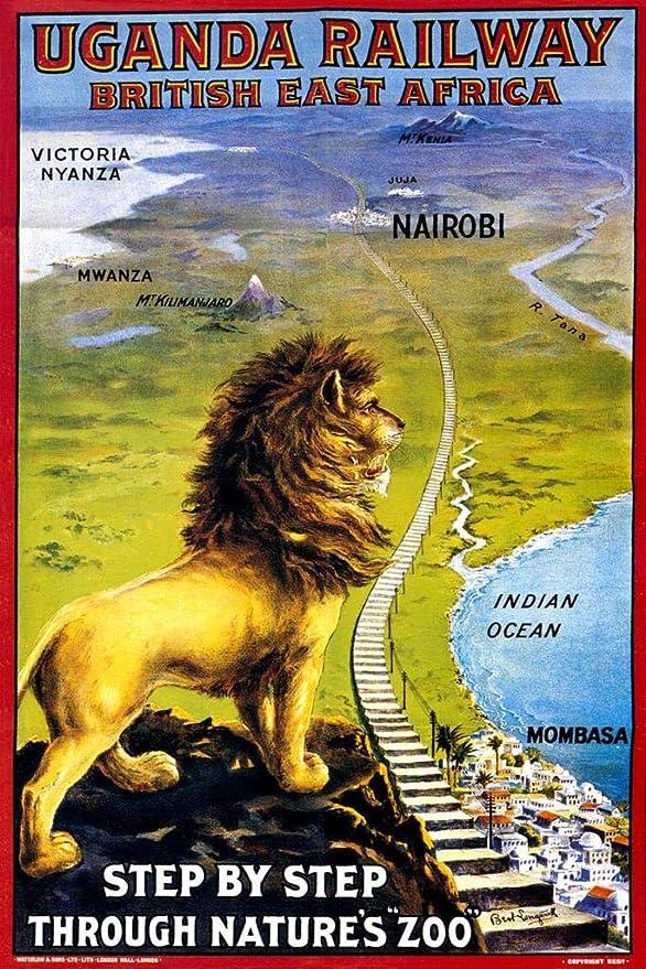 Britain poster gift Travel picture Uganda art print watercolor