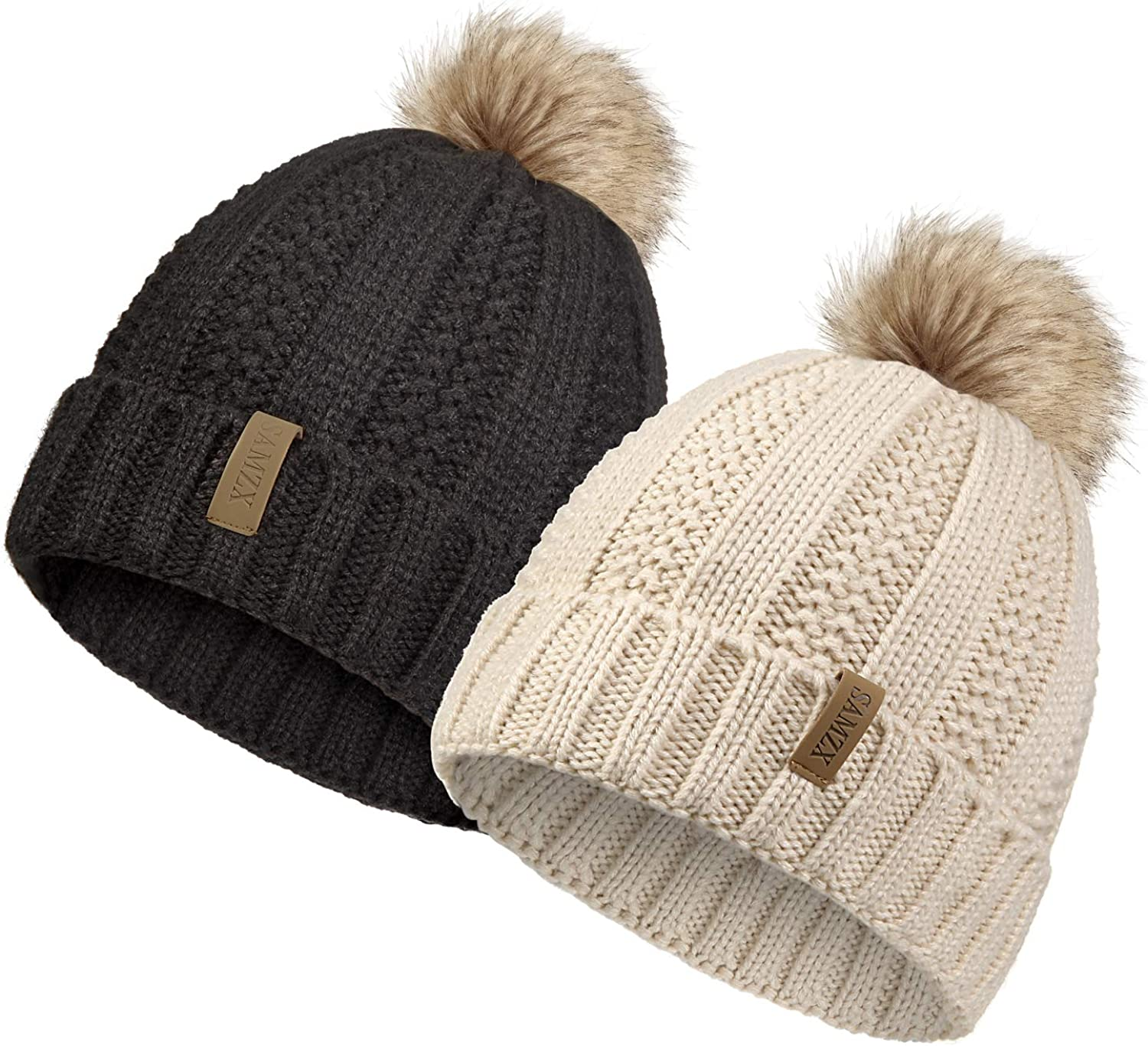 SAMZX Womens 70% OFF Outlet Winter Hat Thick Cable with Free shipping / New Knit Beanie for F Women