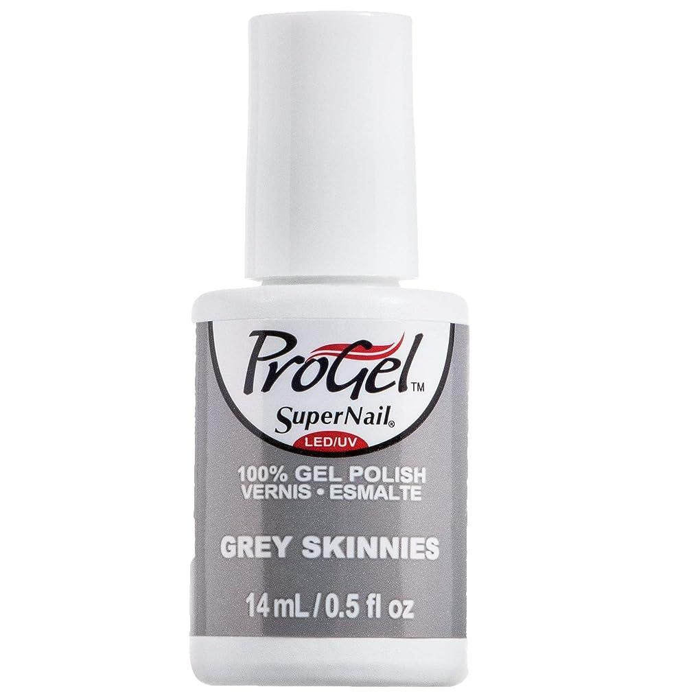 十分ですレキシコン標高SuperNail ProGel Gel Polish - Grey Skinnies - 0.5oz / 14ml
