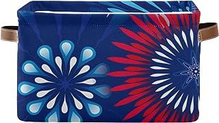 Boîte de rangement bacs de rangement décoratifs pour étagères, paniers de rangement de salle de bain avec poignées en cui...