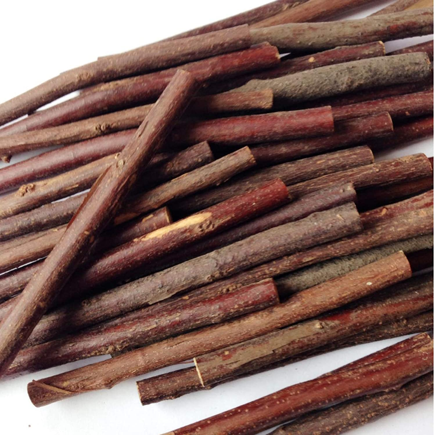 100Pcs 4 Inch Long 10cm 0.1-0.2 Inch in Diameter Wood Log Sticks for DIY Crafts Photo Props