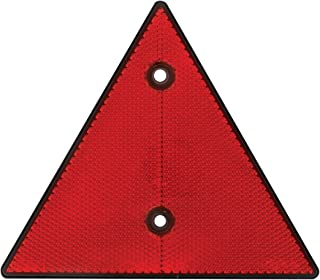 """Grand General 99555 Red 6"""" Triangle Warning Reflector, 1 Pack"""