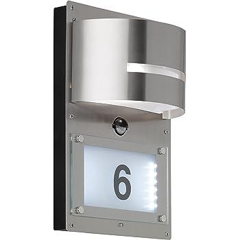 LED Wandlampe außen mit Bewegungsmelder Hausnummernbeleuchtung per App steuern