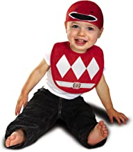Disguise Baby Power Rangers Mighty Morphin Red Ranger Infant Bib and Hat Costume