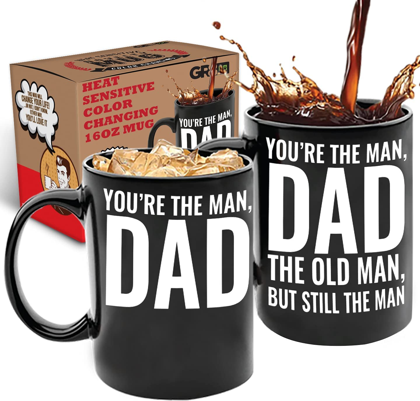 You're the Man Dad Old New popularity Super Special SALE held 16oz Color Changing †Gift Mug