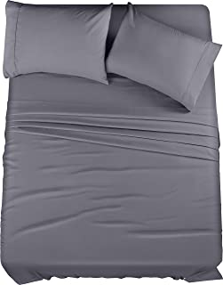 Utopia Bedding Bed Sheet Set - Brushed Microfiber 4 Piece Queen Bedding - Shrinkage & Fade Resistant - Soft Sheets - Easy ...