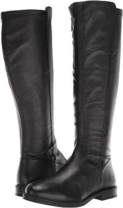 Black Leather/Stretch