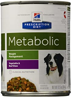 Hill'S Prescription Diet Metabolic Canine Weight Management - Vegetable And Beef Stew - 12X12.5 Ounces