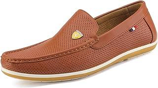 Bruno Marc Moda Italia Bush de los Hombres Casual Suela de Goma de Conducir Loafers Forro Stitched Slip en Barco Zapatos