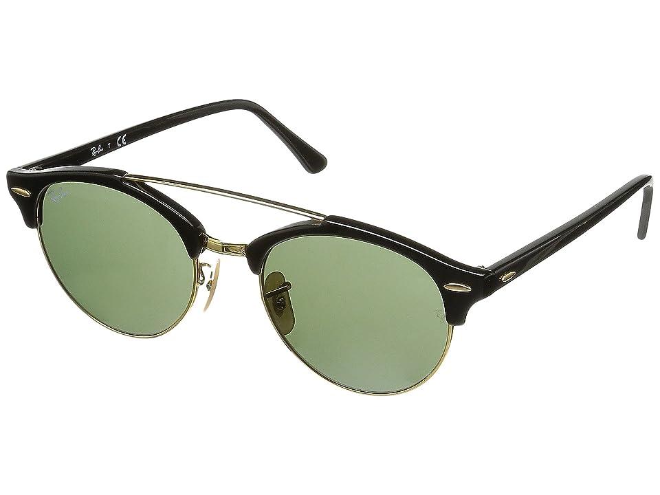 Ray-Ban 0RB4346 Clubround Double Bridge 51mm (Black) Fashion Sunglasses