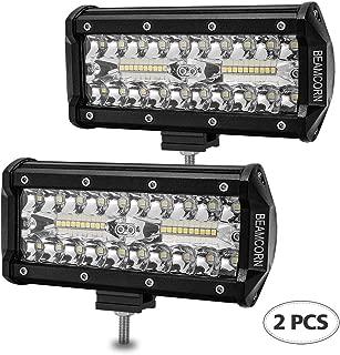 Led Light Bar 7 Inch BEAMCORN 240W 24000Lm Led Light Pods Driving Lights Spot Flood Combo Light Bars Super Bright Backup Lights Off Road Lights for Trucks ATV UTV Jeep 4X4 SUV Rzr Polaris,2 of Pack