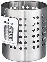 Kitchen Utensil Holder, KSENDALO Stainless Silverware holder, Kitchen Utensil Drying Cylinder,utility for Kitchen/Home/Office, Diameter 4.72