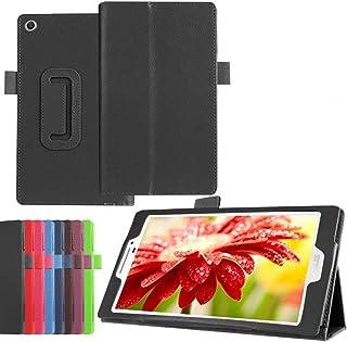 ASUS ZenPad 7.0 Z370C ケース マグネット開閉式 2つ折 PUレザーケース スタンド機能付き 手帳型 スマートカバー タッチペンプレゼント (ブラック)