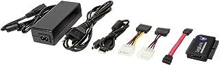 LogiLink - Adaptador USB 2.0 a IDE y SATA Cable con PSU, Negro (Importado)