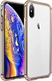 Mkeke Compatible with iPhone Xs Max Case,Clear Anti-Scratch Shock Absorption Cover Case iPhone Xs Max Gold