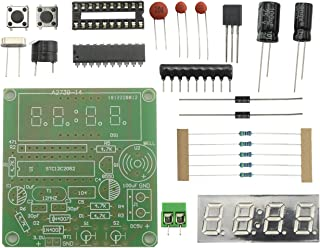 Maxmoral 4 Bits Digital Clock Kit with PCB for Soldering Practice Learning Electronics