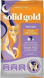Solid Gold GRAINFREE POLLOCK & EGG (INDIGO MOON) 12LBS,Purple/gold