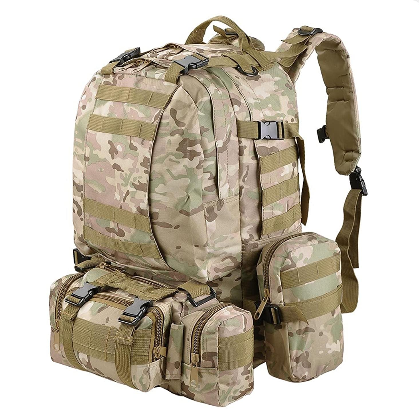 AW 55L 600D Oxford Military Tactical Army Rucksacks Molle Backpack Camping Outdoor Hiking Trekking Traveling Bag