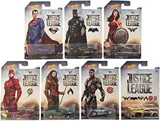 Hot Wheels Justice League 7 Car Set Batman, Flash, Wonder Woman, Cyborg, Aquaman, Superman