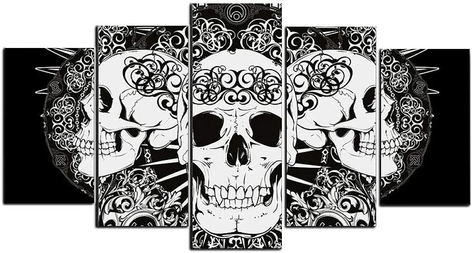 Gothic Luxury Halloween Party Decoration Black Selling rankings Abstract Skull and White