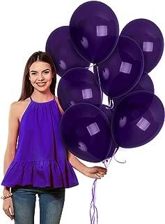 Dark Purple Balloons 12 Inch Deep Royal Violet Latex 36 Pack for Mermaid Under the Sea Party Decorations Nautical Baby Bridal Shower Graduation Decor Mardi Gras Maquerade Ball Supplies