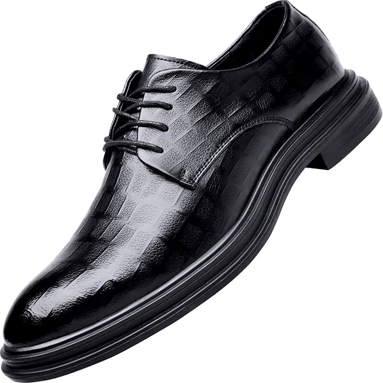 Juyouqian Men's Oxford Shoes Dress Shoe Casual Formal Classic Leather Oxfords Lace-up
