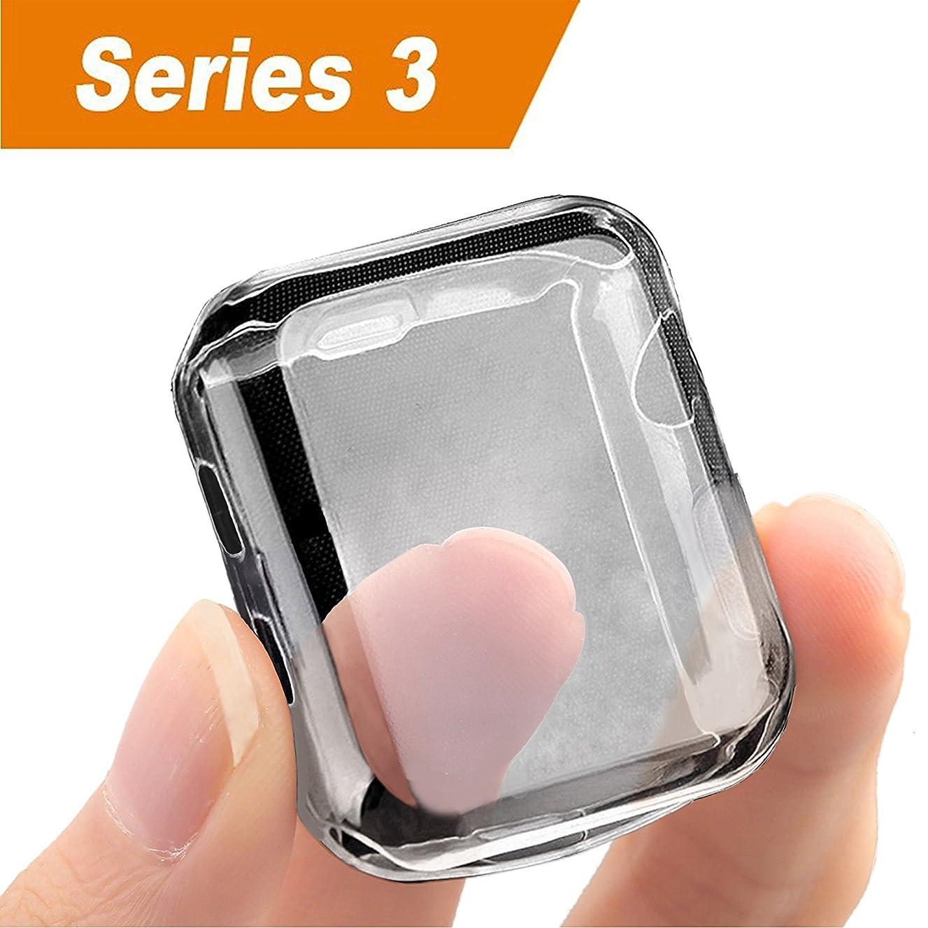UBOLE Case for Apple Watch, UBOLE iWatch Screen Protector Soft Plated TPU All-Around Ultra-Thin Cover for Apple Watch Series 1, Series 2, Series 3, Nike+, Edition (Clear, 38mm)