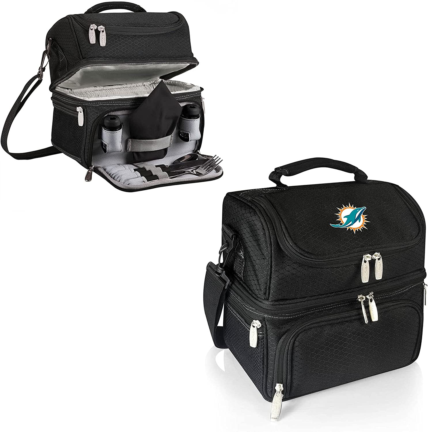 PICNIC TIME Black Miami Tote Pranzo Deluxe Ranking TOP5 Dolphins Lunch