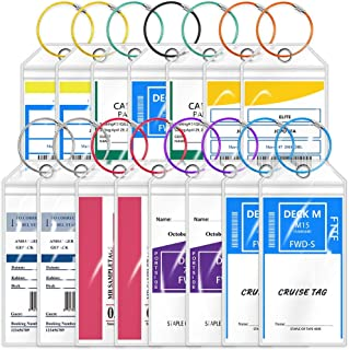 15 Pack - Cruise Luggage Tags, Wild Etag Holders Zip Seal & Steel Loops for Cruise Ships